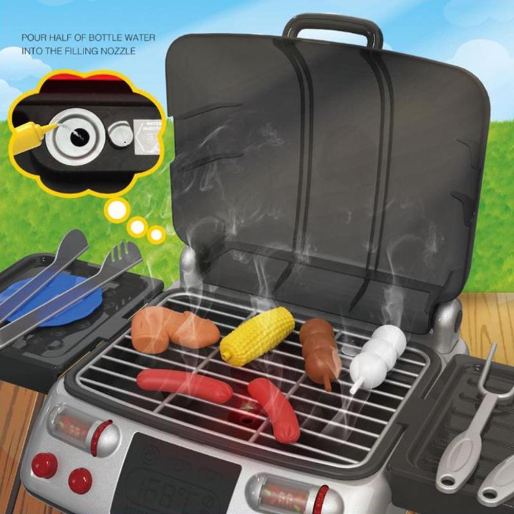 Symulacja dla dzieci udawaj zagraj w zabawkę grill elektryczny zestaw do gotowania kiełbasek pomidorowych udawaj, że bawisz się zabawkami dla dzieci