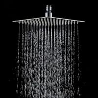 Pommeau de douche en acier inoxydable  20x20cm  8 carres  pluie  salle de bain  pulverisateur  fin  haute pression