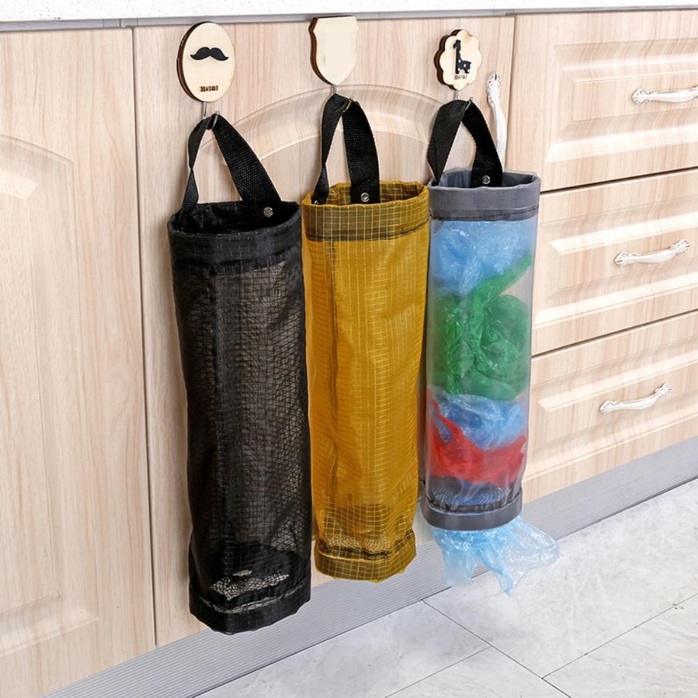 Bolsa de almacenaje de alimentos de malla sencilla, bolsa colgante de pared, dispensador de cuerdas, bolsa colgante de plástico, organizador