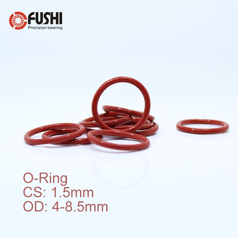 100pcs black o type sealing rubber ring gaskets 4 5 5 6 6 5 7 8 9 9 5 10 11 1 mm CS1.5mm Silicone O RING OD 4/4.5/5/5.5/6/6.5/7/7.5/8*1.5 mm 100PCS O-Ring VMQ Gasket seal Thickness 1.5mm ORing White Red Rubber