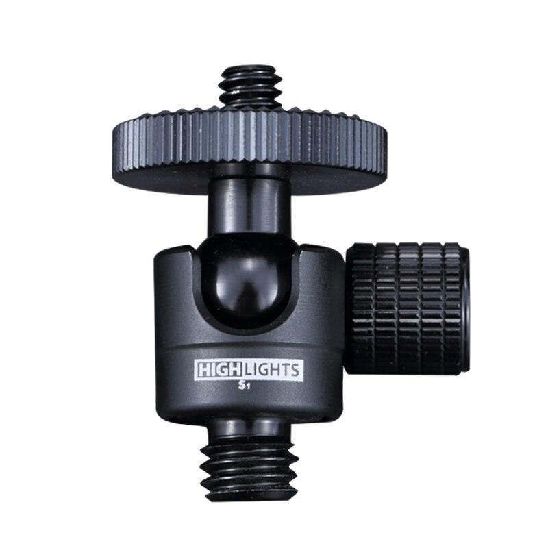 360 adjustable smart mini ball head ;38 screw male tripod heads; Projector 14'' female SLR camera;Self timer stabilizer