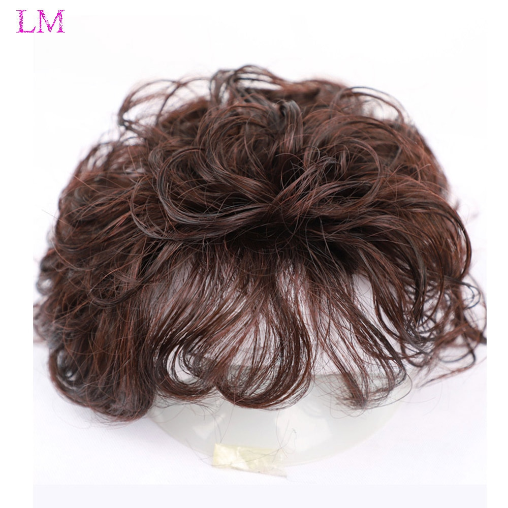 LM Best-selling Natural Black Color Curly Hair Wig Lady Fashion Short Resistant Synthetic Wigs For Black Women High-grade