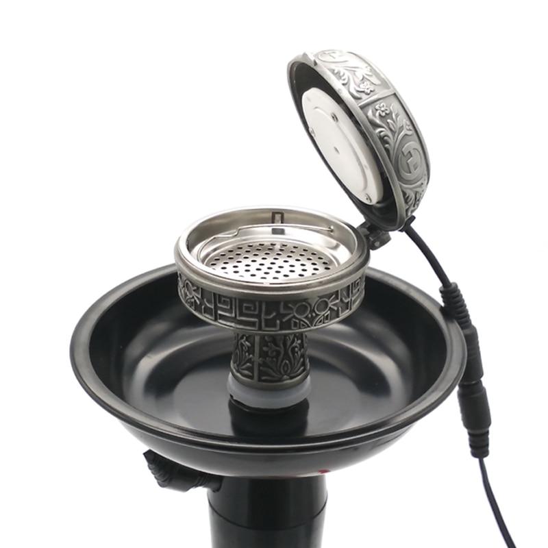 Multifunctional Metal E-Shisha Smoke Pot Electronic Hookah Tobacco Bowl & Charcoal Stove Sheesha Chicha Narguile Accessories enlarge