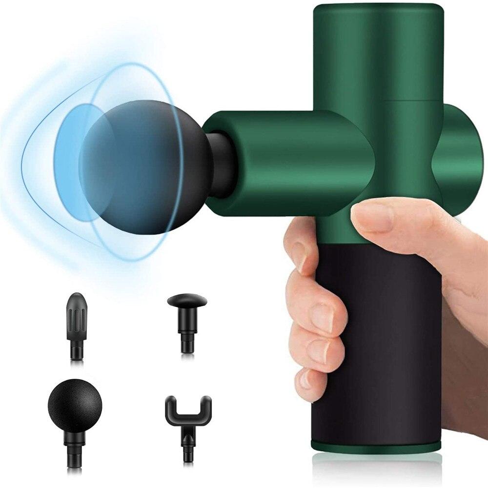 تدليك بندقية صغيرة العضلات مدلك الأنسجة العميقة قرع المحمولة يده مدلك جسم كهربائي الرياضة سوبر صغيرة هادئة