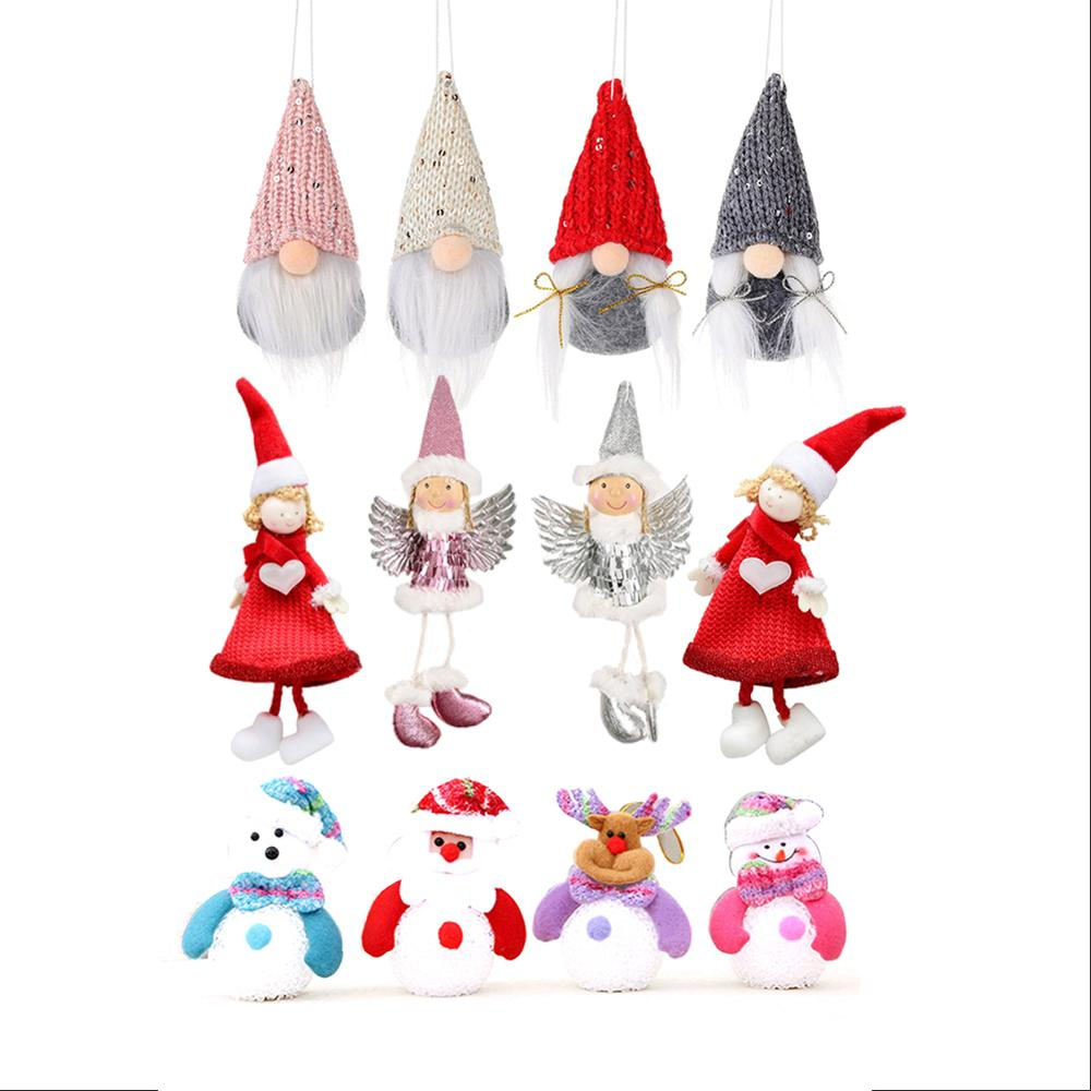 Decoração de papai noel/estatueta de santa sem rosto/pingente de árvore de natal/mini pingente de boneca/decoração de natal/decorações de festa