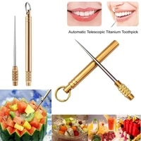 9 5cm titanium toothpick keychain portable camping survival self defense holder edc