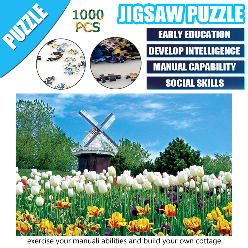Puzzles Toy Landscape Pattern Jigsaw Puzzle 1000 Pieces Jigsaws Picture Puzzles Paper Assembling Games Educational Toys KZ3