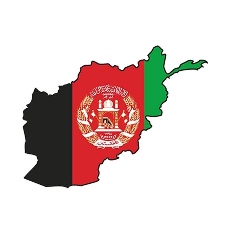 Estilo de coche 3D coche etiqueta engomada Afganistán silueta calcomanía de parachoques mapa bandera impermeable accesorios 13cm x 9,75 cm