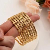 8 pcs fashion dubai bangle jewelry gold color dubai bracelet for menwomen africa arab items wedding bridal gifts