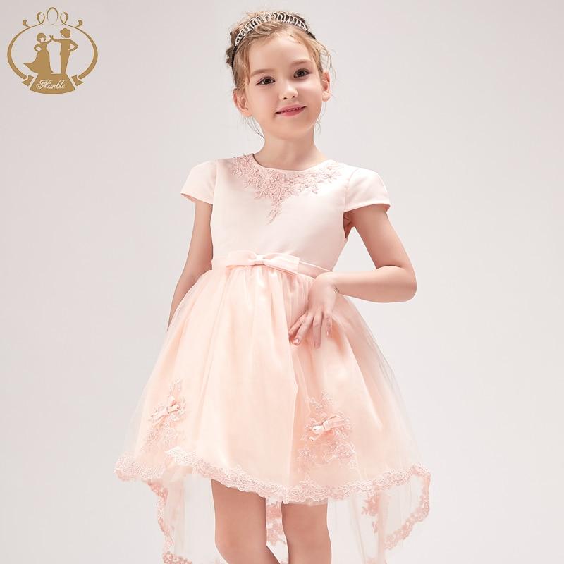 Nimble 2021 Fresh Style Azure Embroidery Teenage Princess Dress Bridesmaid Wedding Birthday Party Summer and Christmas Dress