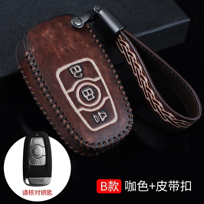 Funda de cuero para llave de coche para Great Wall Haval H6 2015 C50, llavero de billetera con Control remoto para coche, accesorios