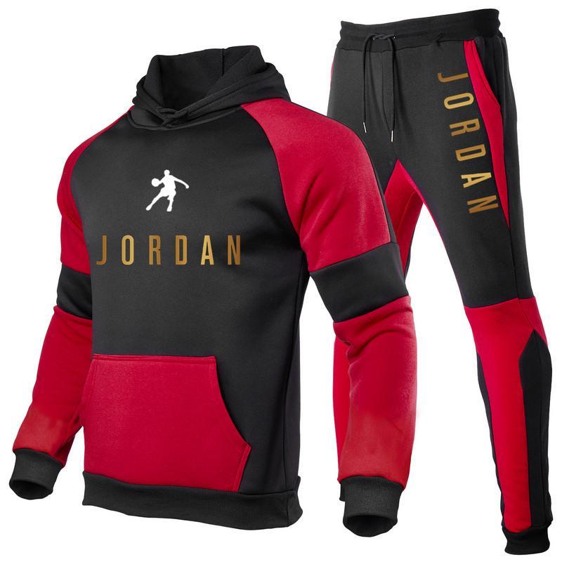 2021 algodão moletom masculino, moletom com capuz e calças, roupas esportivas, camisa casual, corrida, outono e inverno
