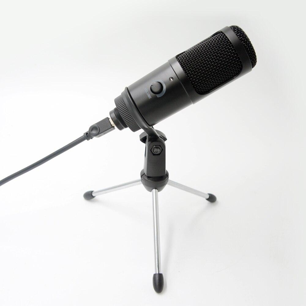 Streaming USB Microphone Metal Condenser Microphones for Laptop Computer Recording Studio Streaming Youtube TIKTOK
