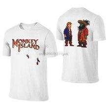 Mans o pescoço guybrush lechuck monkey island t camisa louco para homem macio camiseta superior S-6XL