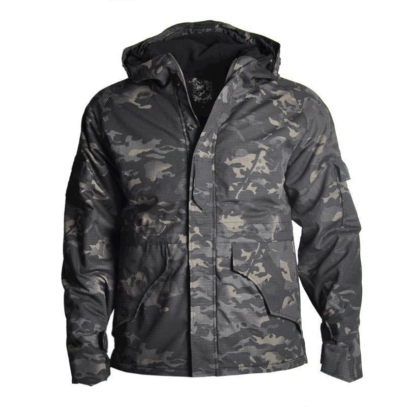 G8 casaco masculino de treinamento de combate tático, jaqueta à prova dágua, uso ao ar livre, acampamento, caminhada, caça, pesca, corta-vento, impermeável, impermeável