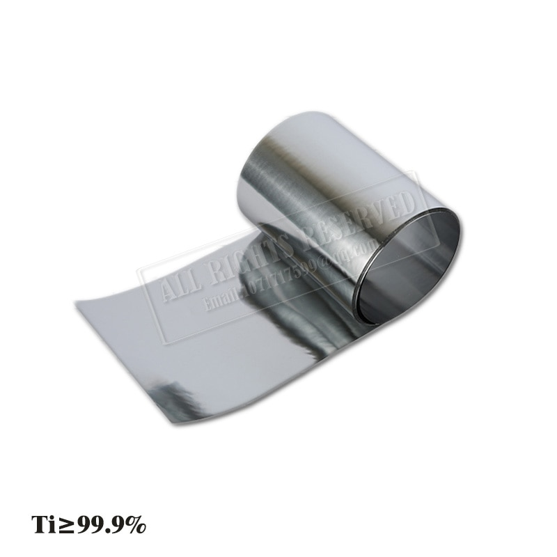 customized authentic 304 321 316 stainless steel col rolled bright thin foil tape strip sheet plate coil roll Titanium sheet Ti99% TC4 titanium foil Pure titanium sheet Titanium strip Titanium alloy foil Titanium plate