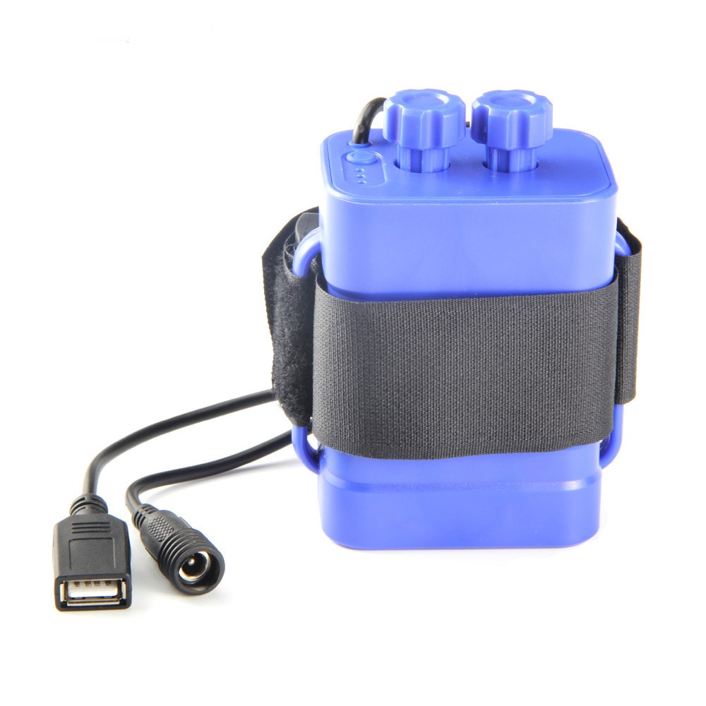 6 section 18650 waterproof battery case 18650 battery pack 5VUSB/8.4VDC dual interface 18650 waterproof battery box