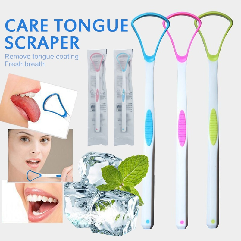 1PC Oral Tongue Cleaning Brush Tongue Scraper Oral Hygiene Care Tools Cleaning Coated Tongue Toothbrush To Keep Fresh Breath