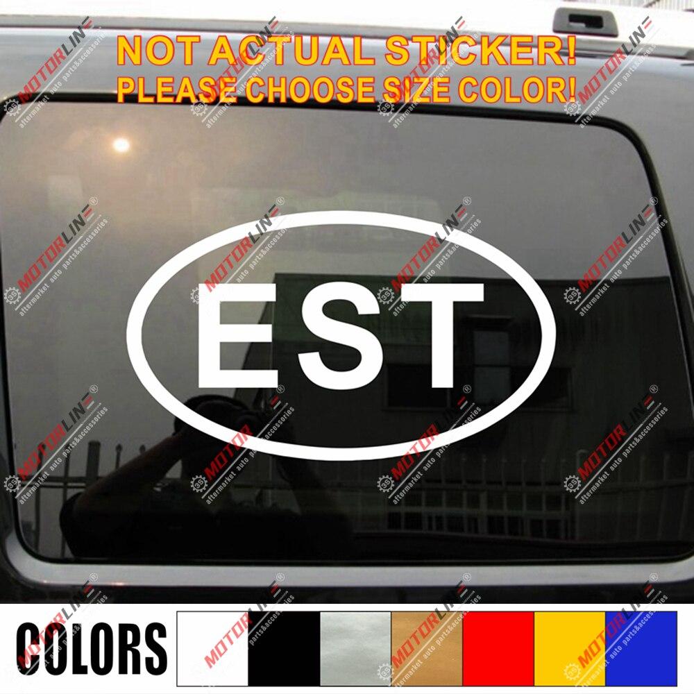 Estonia est oval país código decalque adesivo estoniano carro vinil escolher tamanho cor