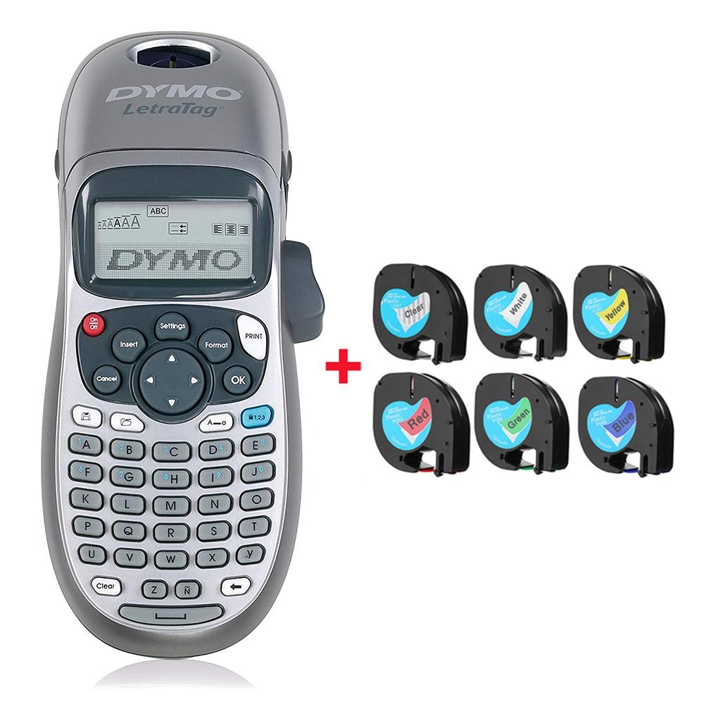 Original Dymo label printer LT-100H portable printing machine with LetraTag tape label maker printer for LT 12267 91201 91202