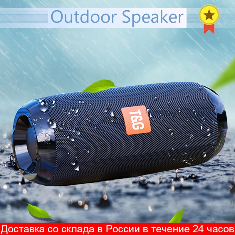 Portable Bluetooth Speaker Wireless Bass Subwoofer Waterproof Outdoor Speakers Boombox AUX TF USB  Stereo Loudspeaker Music Box