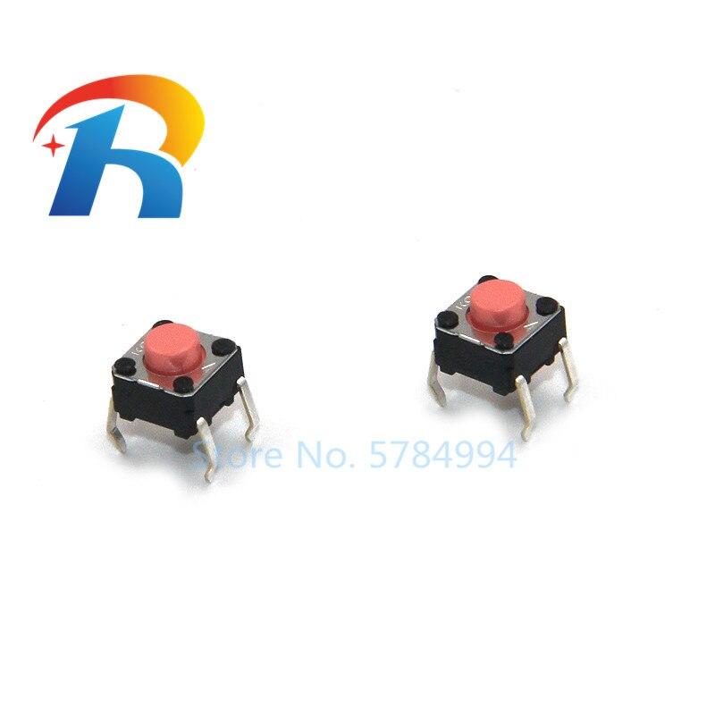 شحن مجاني 100 قطعة/الوحدة جديد الأصلي B3F سلسلة ضوء اللمس التبديل B3F-1025S زر التبديل 6*6*5 مللي متر DIP 4 دبابيس 2.55N الوردي زر