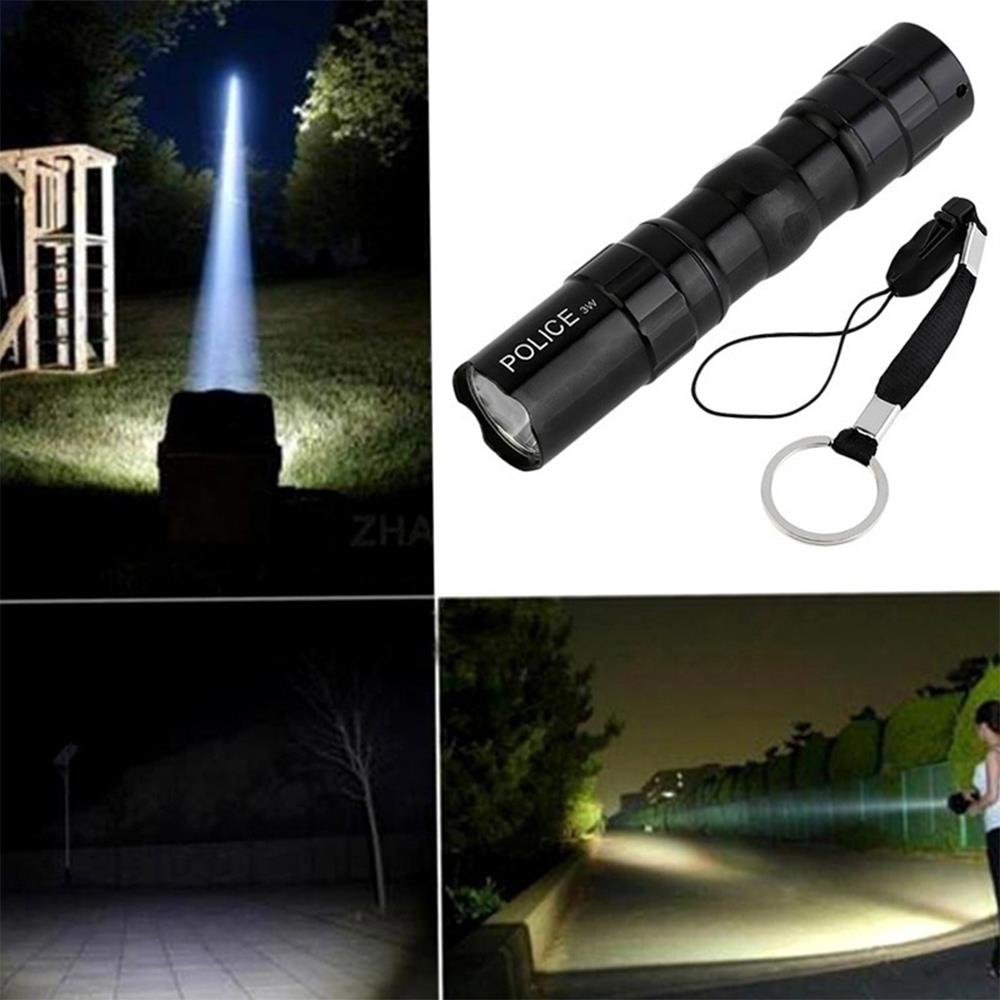 Linterna LED linterna emergente impermeable negro resistente a los golpes carcasa de aluminio de grado superior de alta potencia