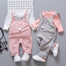 Ensemble de vêtements pour garçons et filles   T-shirt à manches longues, ensemble de 2 pièces, costume décontracté en coton, pour enfants de 1-2-3-4 ans