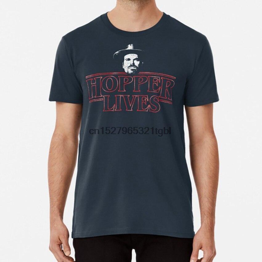 Hopper T camisa once mileven millie bobby brown finn wolfhard lucas dustin steve harrington hawkins alta escuela