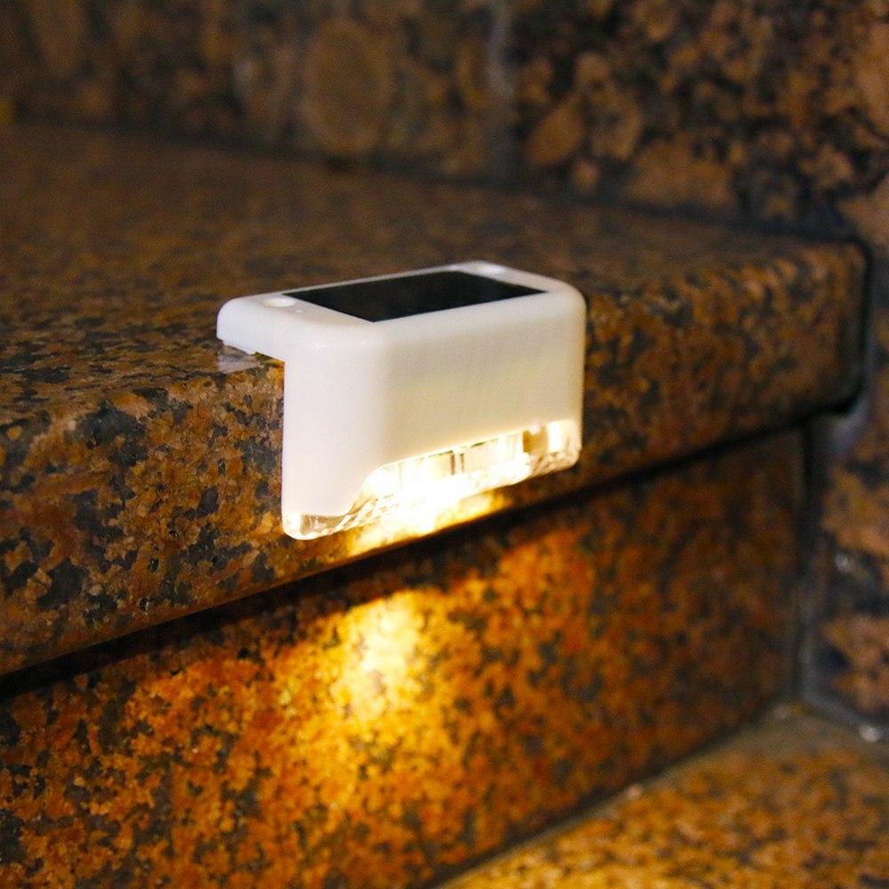 Светодиодный светильник на солнечной батарее для лестницы, уличная лампа для сада, двора, забора, ландшафта, колоды, ночной декоративный све...