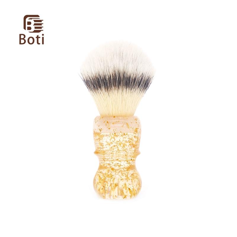 Boti щётка, скользящая по волосам для бритья продукт золотая ручка в форме листа и Новинка 3 Colorc узел весь борода щетка для очистки борода ящик ...