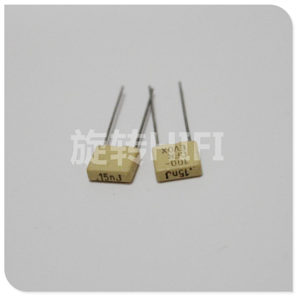 20 piezas nuevo EVOX CFR5 150PF 100V P5MM amarillo 151/100V EVOX-RIFA CFR 151 150PF/100v 0.15NF 150P