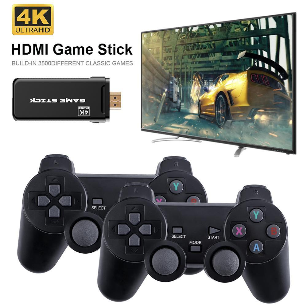 4K Games USB Wireless Console 3500 Classic Game Stick Video Game Console 8 Bit Mini Retro Controller HDMI-compatible Dual Player enlarge