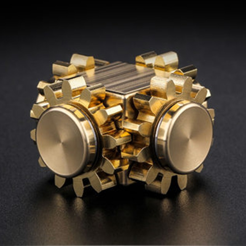 High Quality Fine Copper Fidget Spinner EDC Hand Spinner For Autism And ADHD Anti Stress Mechanical Engineering Wheel Cube Toy enlarge