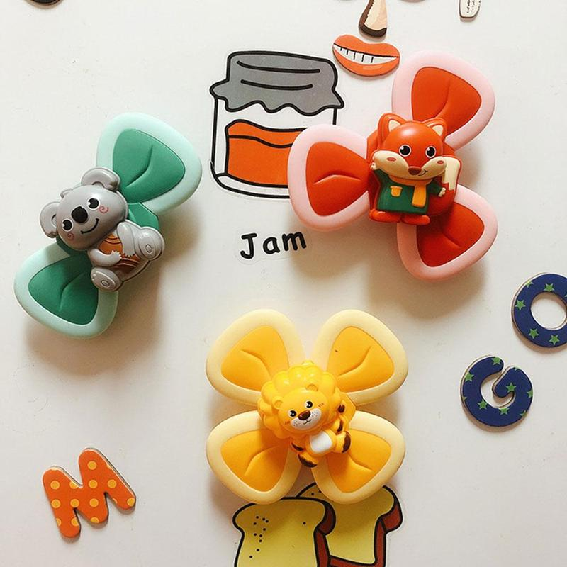 3 Pcs/set The Bottom of The Fingertip Top with Suction Cup Can Be Attached To The Glass To Make Children Laugh enlarge