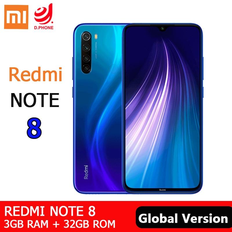 "Versão global xiaomi redmi nota 8 3 gb 32 gb smartphone snapdragon 665 octa núcleo 48mp quad câmera 6.3 ""4000 mah 18 w carga rápida"