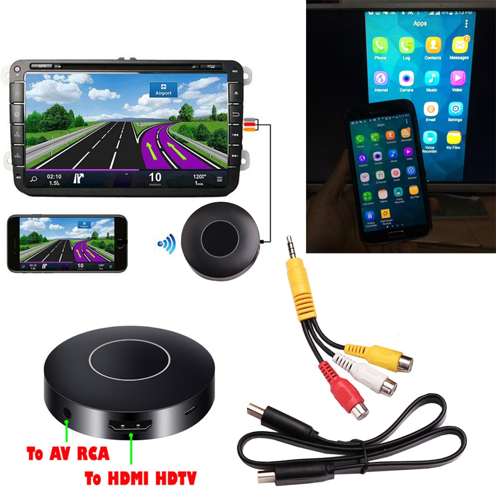 AllShare литой DLNA Miracast Airplay экран зеркальное HD ТВ ключ HDMI Палка беспроводной Wifi Автомобильный AV RCA видео адаптер телефон к телевизору