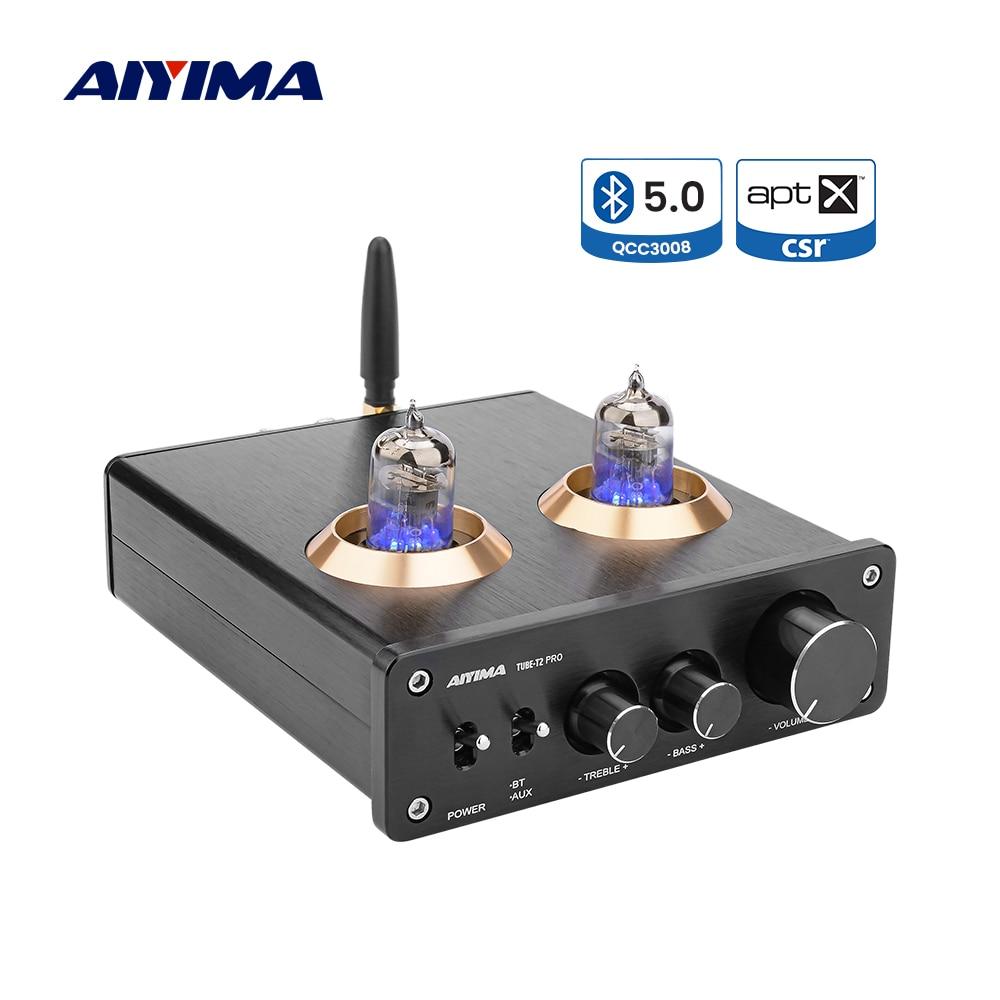 AIYIMA APTX Bluetooth 5,0 6J1 вакуумная трубка Preamp Dual TPA3116 цифровой усилитель мощности стерео 100Wx2 домашний кинотеатр Hifi мини усилитель
