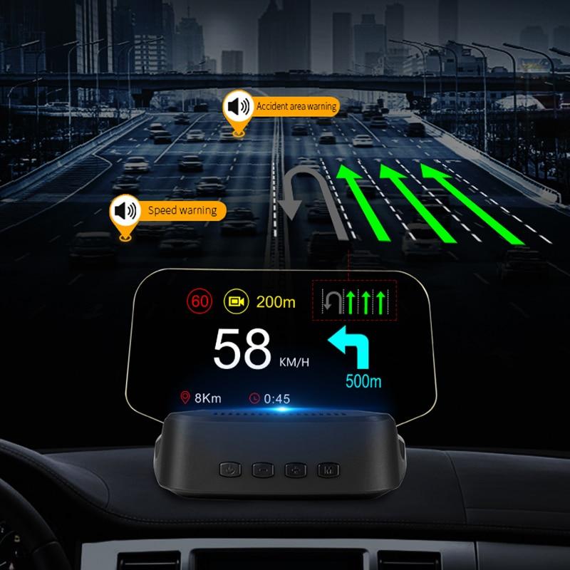 Автомобильная навигация, дисплей на лобовое стекло OBD2 и GPS, два режима, проекционный спидометр