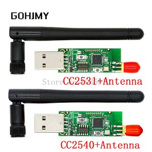 Wireless Zigbee CC2531 CC2540 Sniffer Bare Board Packet Protocol Analyzer USB Interface Dongle Capture Packet Module +Antenna