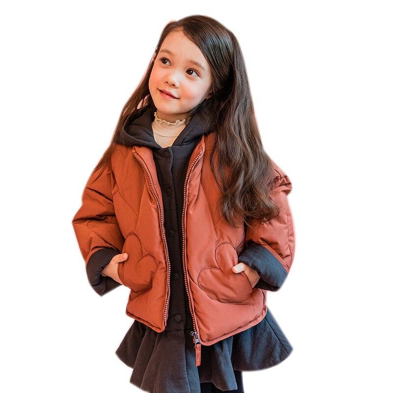 Baby down girls  jacket medium length down jacket + cotton vest  children's duck down jacket total 2 pcs 1-8 year WT004