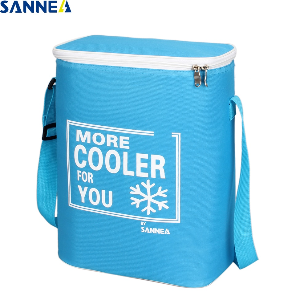 SANNE 15L waterproof portable insulated cooler bag can carry food and drink thermal Solid color