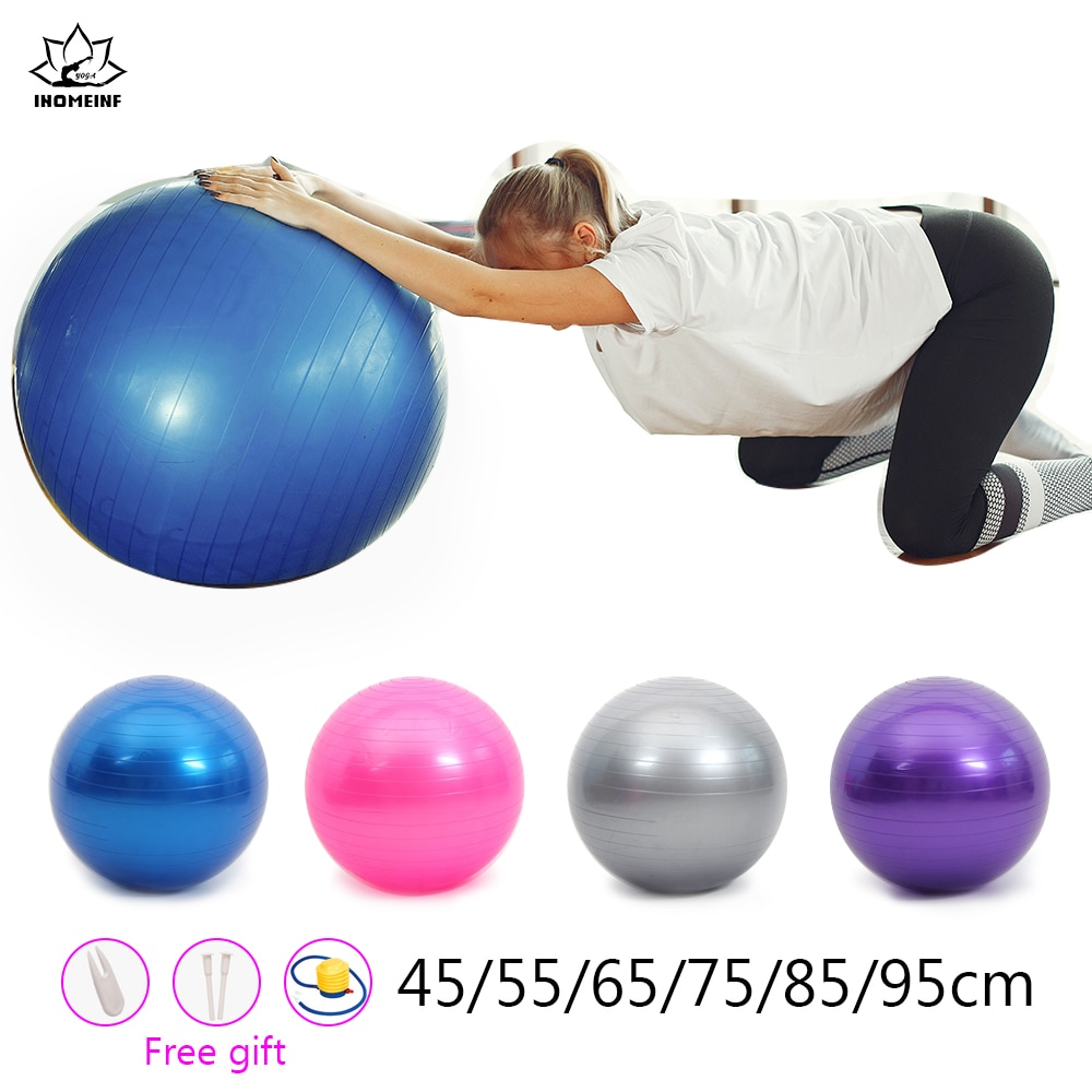 Dia 25-95Cm Yoga Ball PVC Thick Fitness Balls For Birthing Pilates Exercise Training Balance Office/