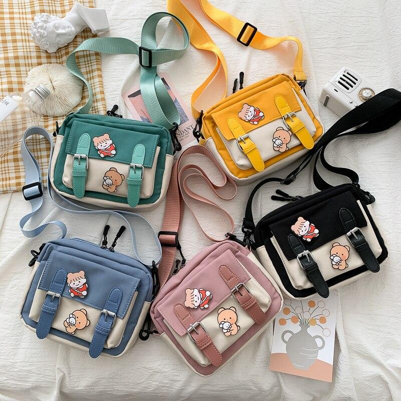 Bolso de lona informal para hombre, bolso bandolera pequeño para mujer, bolso de mano para mujer, sanrio, bolso para exterior de lujo
