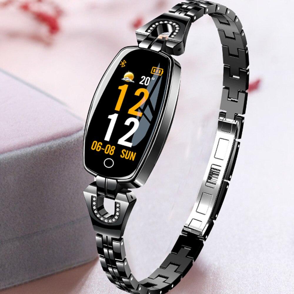 696 H8 Vrouwen Mode Smart Armband Horloge Met Bloeddruk Hartslag Sleep Monitor Stappenteller Smartwatch APP sluit Android