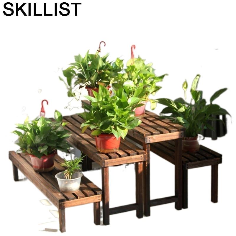 Wooden Shelves For Plantenrekken Living Room Indoor Wood Stand Stojak Na Kwiaty Balcony Flower Rack Dekoration Plant Shelf недорого