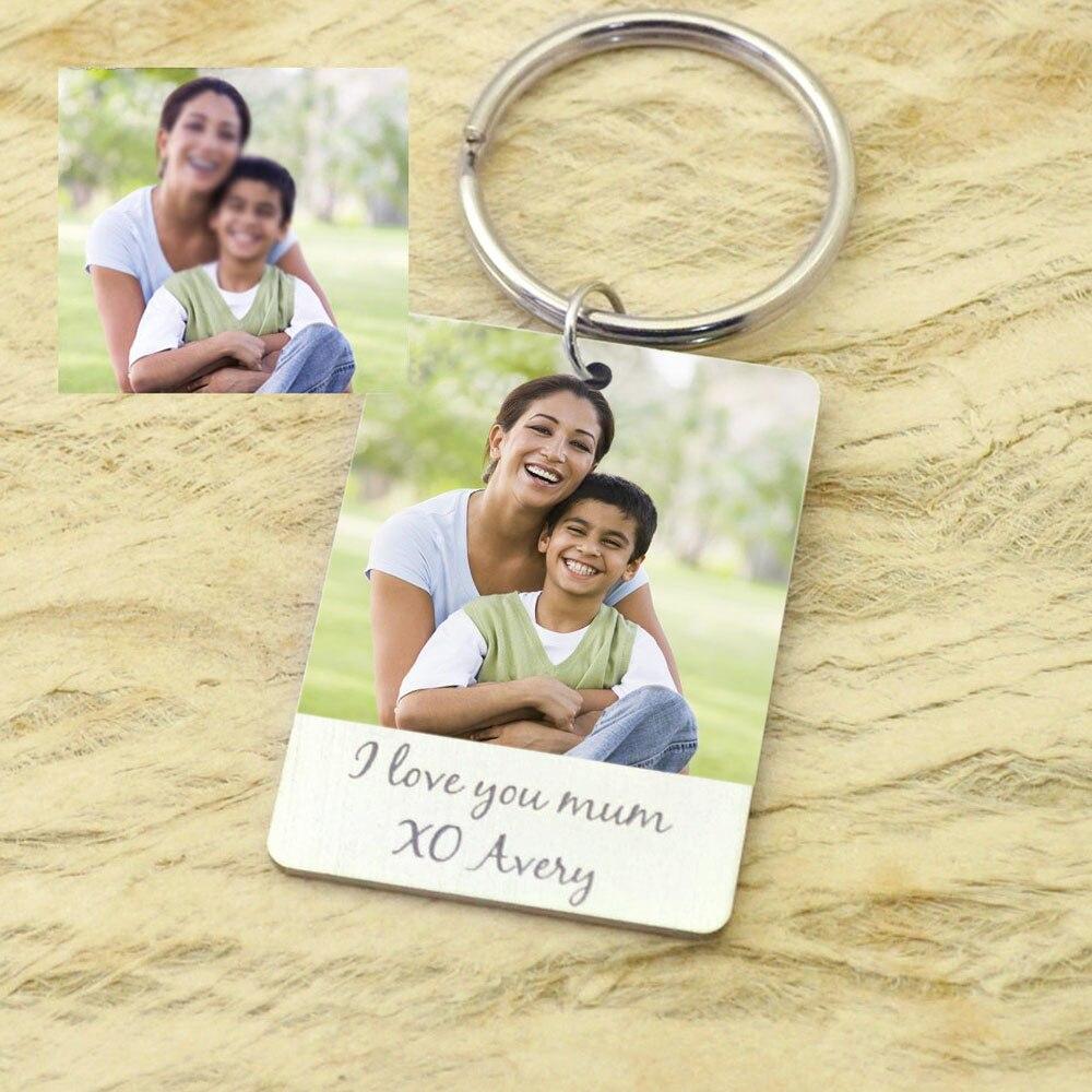 Foto personalizada llavero recuerdo regalo para la foto de la madre llavero foto joyería para el día de la madre