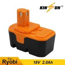 KINSUN сменный электроинструмент батарея 18В 2.0Ah Для Аккумуляторная дрель ryobi 130224028 BPP-1813 BPP-1815 BPP-1817 BPP-1820 BID-180L