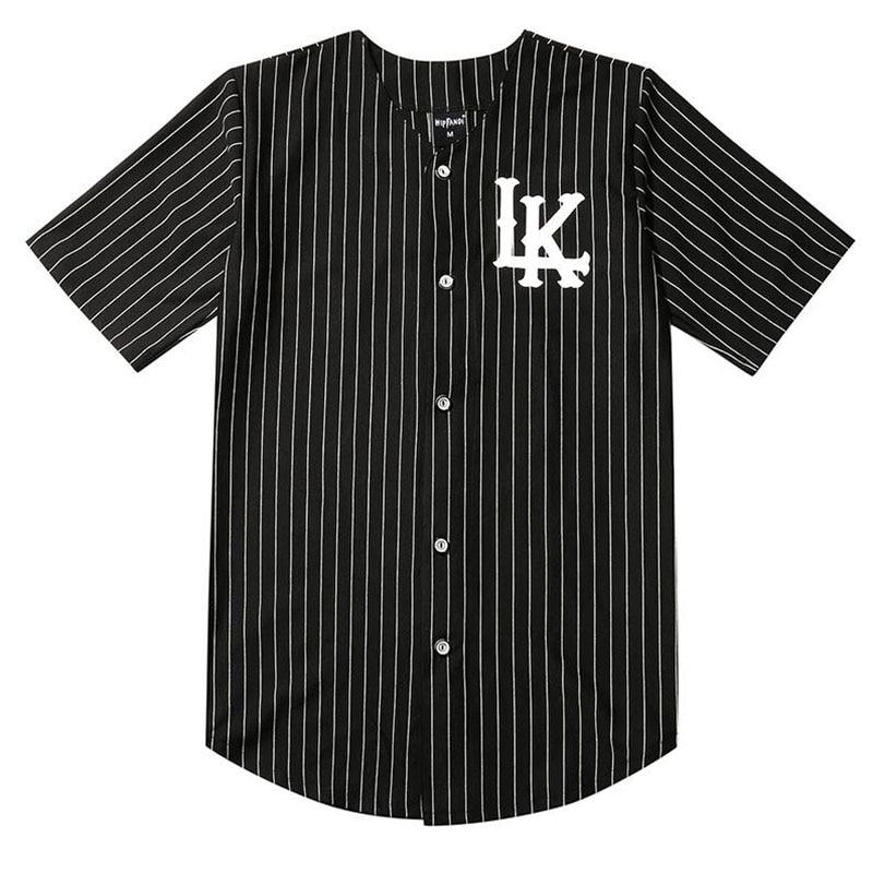 Men's Baseball Jersey 07 King In LAKE Baseball Jersey White and Black Street Hip Hop Men's and Women's Short Sleeve T-Shirt