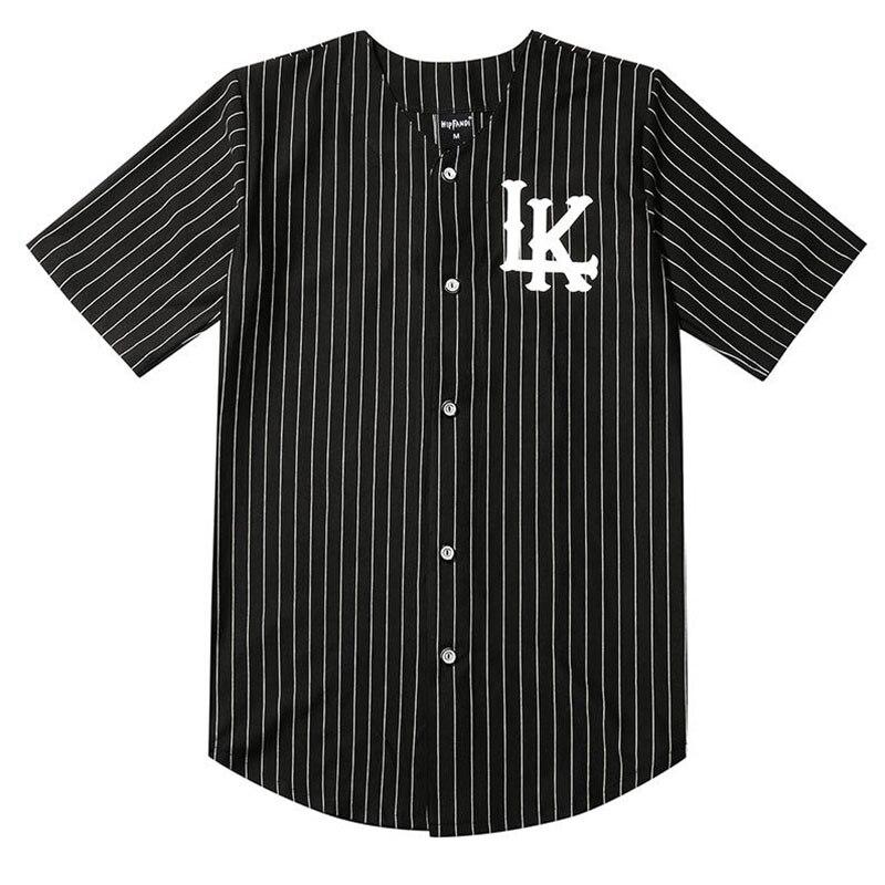 Maillot Baseball homme 07 King In LAKE maillot Baseball blanc et noir Street Hip Hop tee shirt manches courtes homme et femme